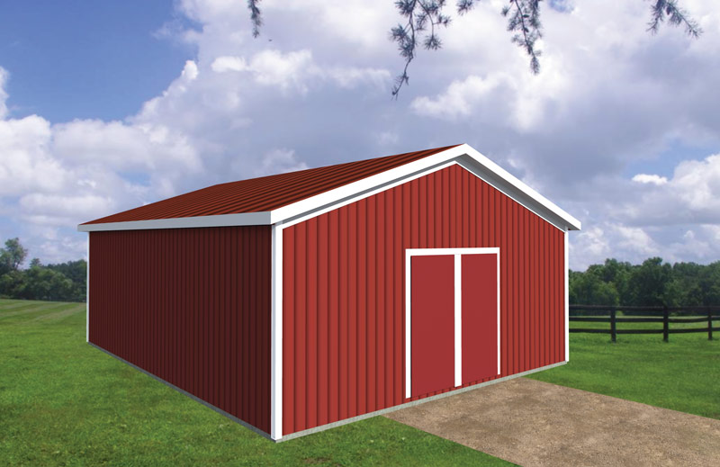 Shed garage pole barn packages gnh lumber co for Garage building packages